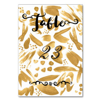 Modern abstract gold strokes paint card