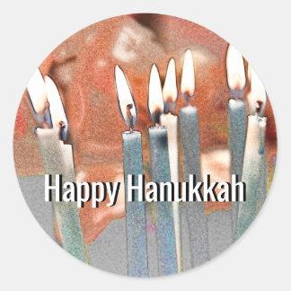 Modern Abstract Hanukkah Classic Round Sticker