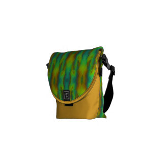 Modern Abstract in Vibrant Green and Yellow Commuter Bag