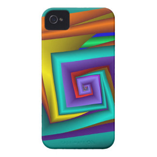 Modern abstract iPhone 4 case with square spiral