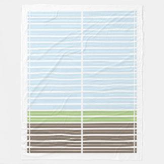 Modern Abstract Landscape Fleece Blanket
