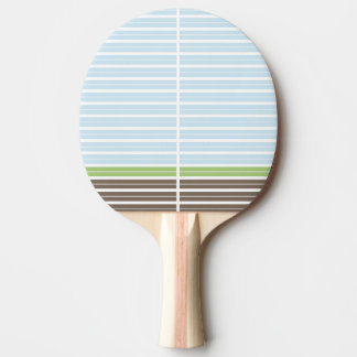Modern Abstract Landscape Ping Pong Paddle