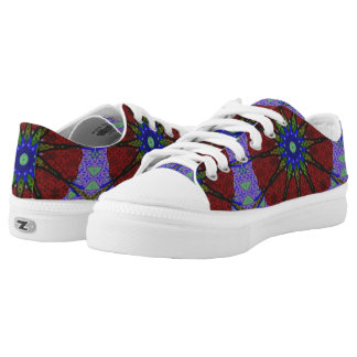 Modern abstract modern pattern low tops