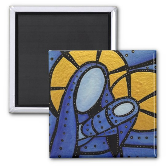 Modern Abstract Mother And Child Magnet
