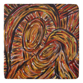 Modern Abstract Mother And Child Trivets