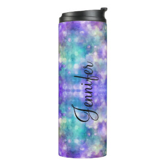 Modern Abstract Name Drop Thermal Tumbler