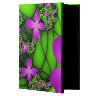 Modern Abstract Neon Pink Green Fractal Flowers Powis iPad Air 2 Case