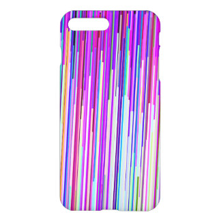 Modern abstract neon pink purple stripes iPhone 8 plus/7 plus case