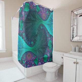 Modern Abstract Ocean Design Shower Curtain