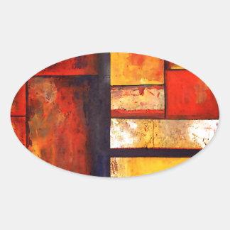 Modern Abstract Oval Sticker