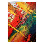 Modern Abstract Painting Greeting Card