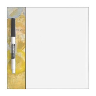 Modern Abstract Painting on Newsprint Dry Erase Board
