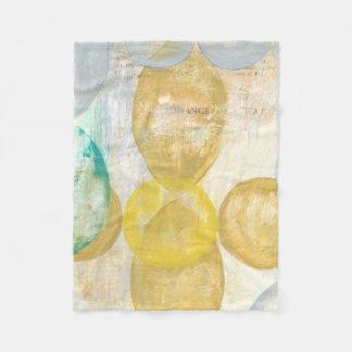 Modern Abstract Painting on Newsprint Fleece Blanket