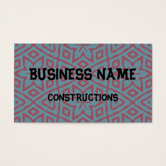 Modern abstract pattern business card
