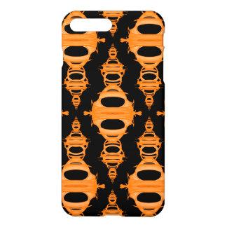 Modern Abstract Pattern Dividers 03 Orange Black iPhone 8 Plus/7 Plus Case