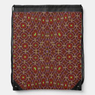Modern abstract pattern drawstring bag