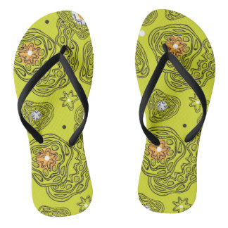 Modern abstract pattern Flip Flops. Flip Flops