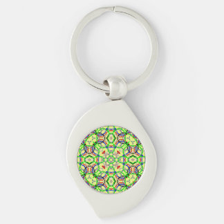 Modern abstract pattern key chains