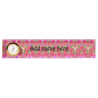 Modern abstract pattern name plate