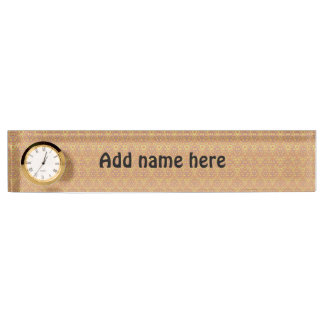 Modern abstract pattern nameplate