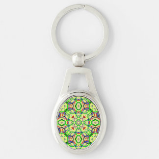 Modern abstract pattern keychains