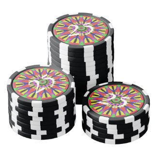 Modern abstract pattern poker chips