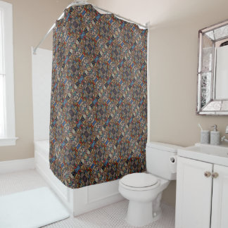 Modern Abstract Pattern Shower Curtain