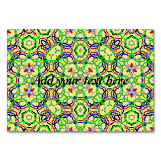 Modern abstract pattern table cards