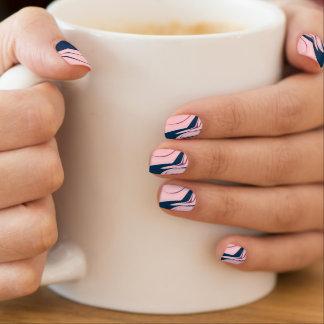 Modern abstract pink-blue Nail Art