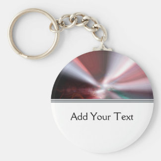 Modern Abstract Red Light Basic Round Button Key Ring