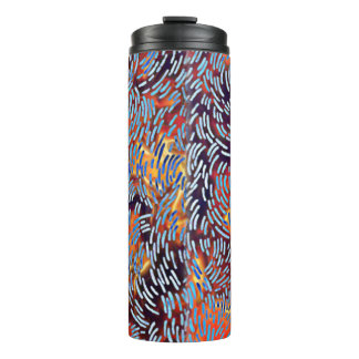 Modern Abstract Red Yellow Black Thermal Tumbler