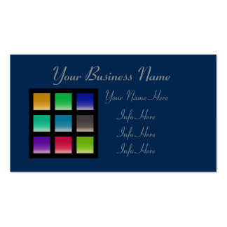 Modern Abstract Squares Pattern Pack Of Standard Business Cards