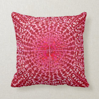 Modern Abstract Starburst, Burgundy and Pink Throw Pillow