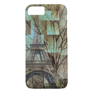 modern abstract tree landscape paris eiffel tower iPhone 8/7 case