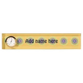 Modern abstract trendy pattern name plate