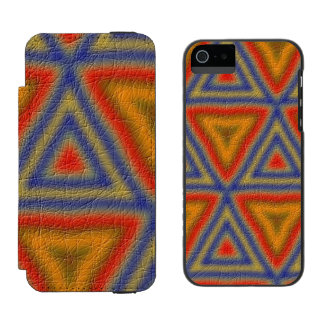 Modern abstract triangle pattern incipio watson™ iPhone 5 wallet case
