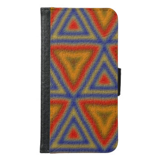 Modern abstract triangle pattern samsung galaxy s6 wallet case