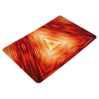 Modern Abstract Triangles Pattern Floor Mat