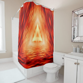 Modern Abstract Triangles Pattern Shower Curtain