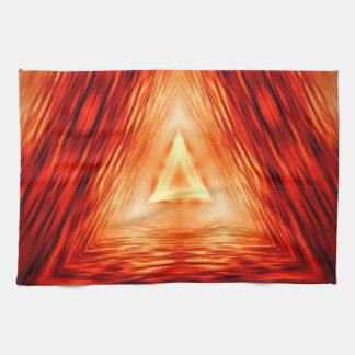Modern Abstract Triangles Pattern Tea Towel