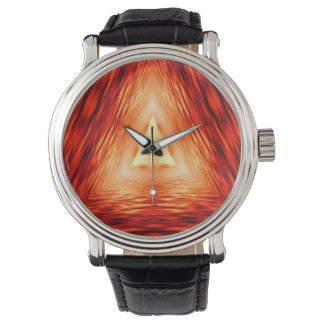 Modern Abstract Triangles Pattern Watch