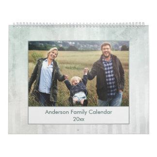 Modern Abstract Watercolor Family Photo Calendar