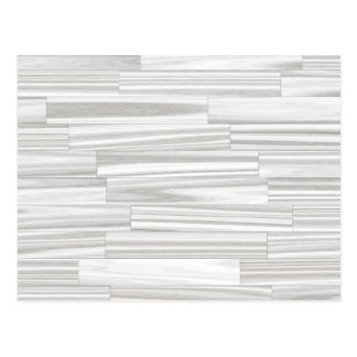 Modern abstract white gray wood grain pattern postcard