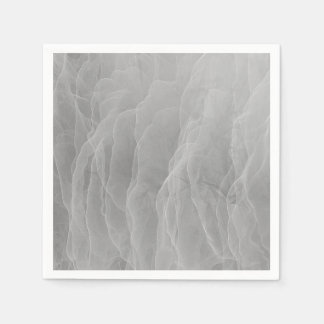 Modern Abstract White Smoke Design Disposable Napkins
