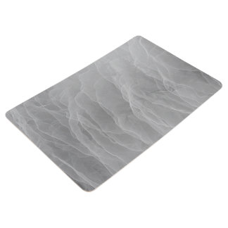 Modern Abstract White Smoke Design Floor Mat