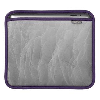 Modern Abstract White Smoke Design iPad Sleeve