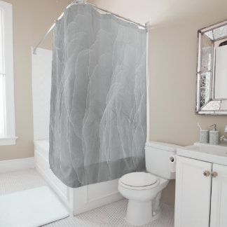 Modern Abstract White Smoke Design Shower Curtain