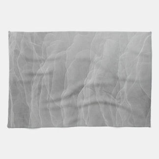 Modern Abstract White Smoke Design Tea Towel