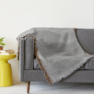 Modern Abstract White Smoke Design Throw Blanket