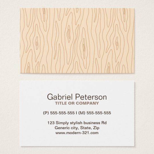 Modern abstract wood grain professional profile business card